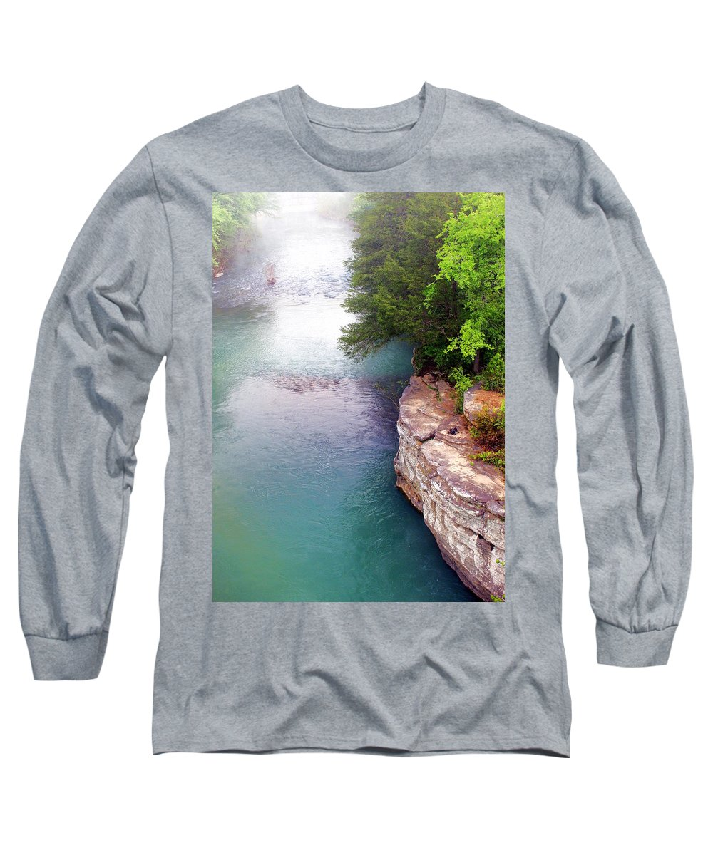 Ozarks Long Sleeve T-Shirt featuring the photograph Buffalo River Mist by Marty Koch