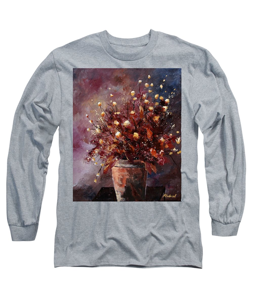 Poppies Long Sleeve T-Shirt featuring the painting Bunch 56 by Pol Ledent