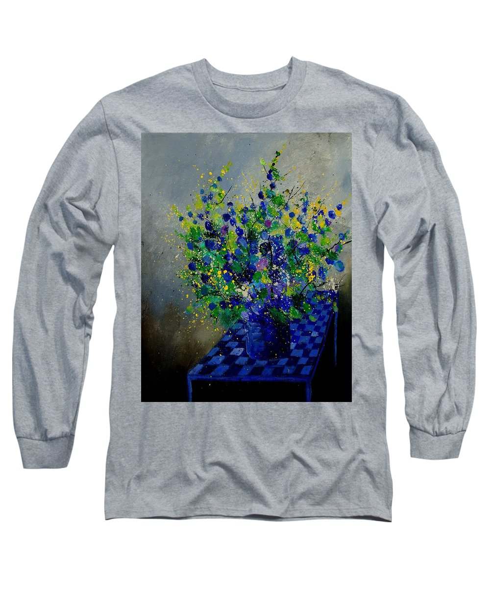 Flowers Long Sleeve T-Shirt featuring the painting Bunch 9020 by Pol Ledent