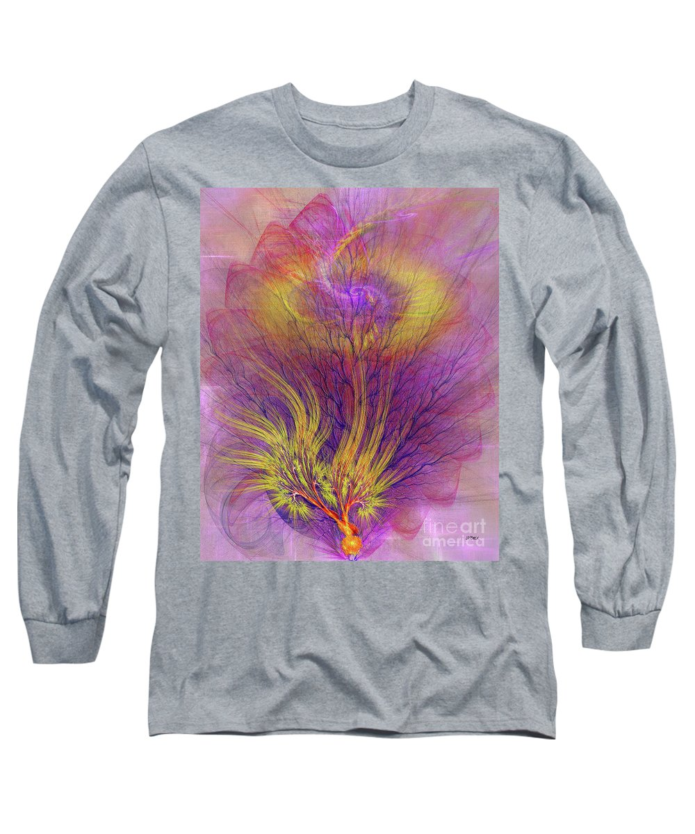 Burning Bush Long Sleeve T-Shirt featuring the digital art Burning Bush by John Beck