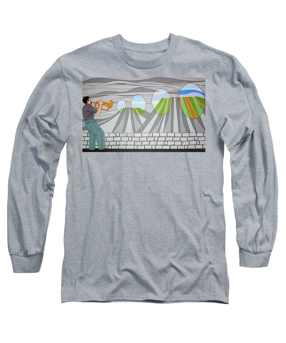 Trumpet Long Sleeve T-Shirt featuring the painting Candy Lips by Patricia Van Lubeck