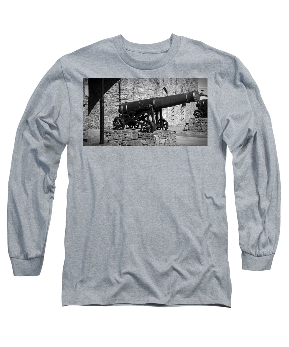 Irish Long Sleeve T-Shirt featuring the photograph Cannon At Macroom Castle Ireland by Teresa Mucha
