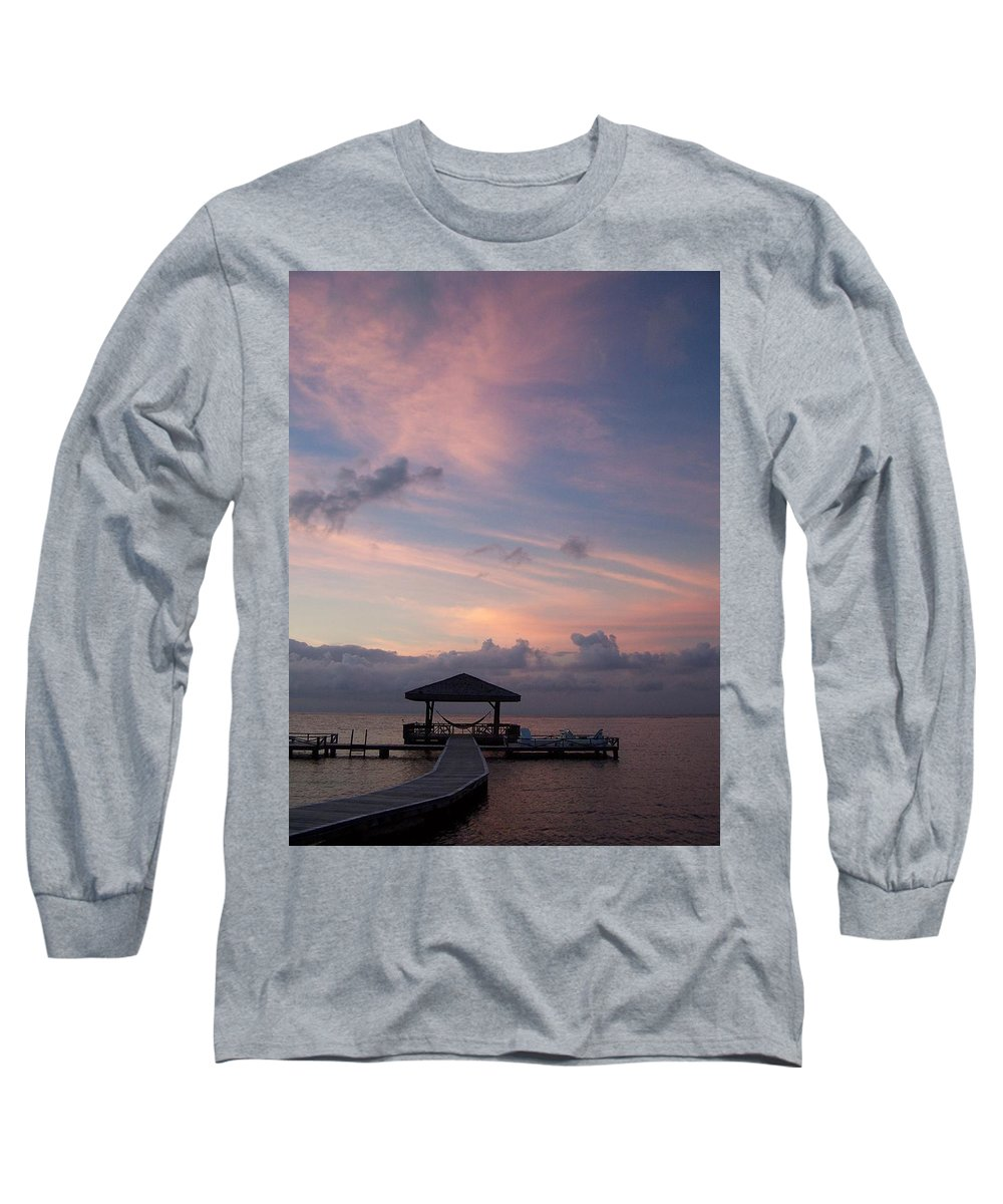 Ocean Long Sleeve T-Shirt featuring the photograph Caribbean Sunrise by Gale Cochran-Smith