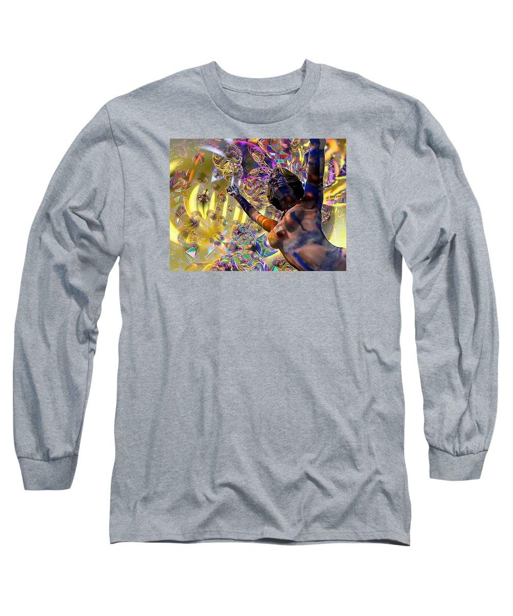 Woman Long Sleeve T-Shirt featuring the digital art Celebration Spirit by Dave Martsolf