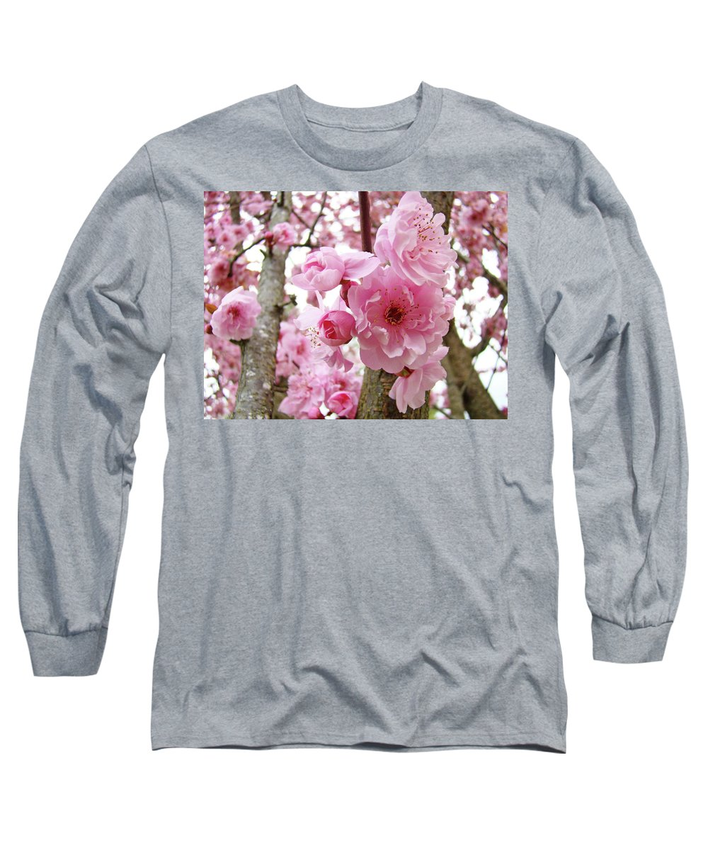 Nature Long Sleeve T-Shirt featuring the photograph Cherry Blossoms Art Prints 12 Cherry Tree Blossoms Artwork Nature Art Spring by Baslee Troutman