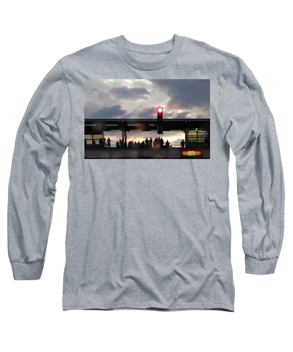 L Train Long Sleeve T-Shirt featuring the photograph Chicago L Train by Albert Stewart