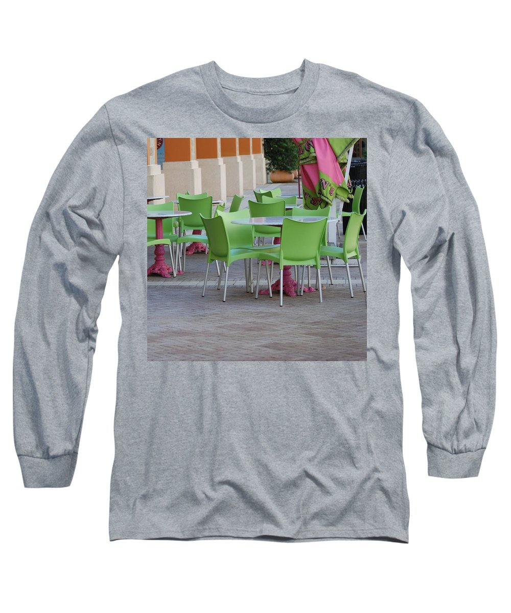 Chairs Long Sleeve T-Shirt featuring the photograph City Place Seats by Rob Hans