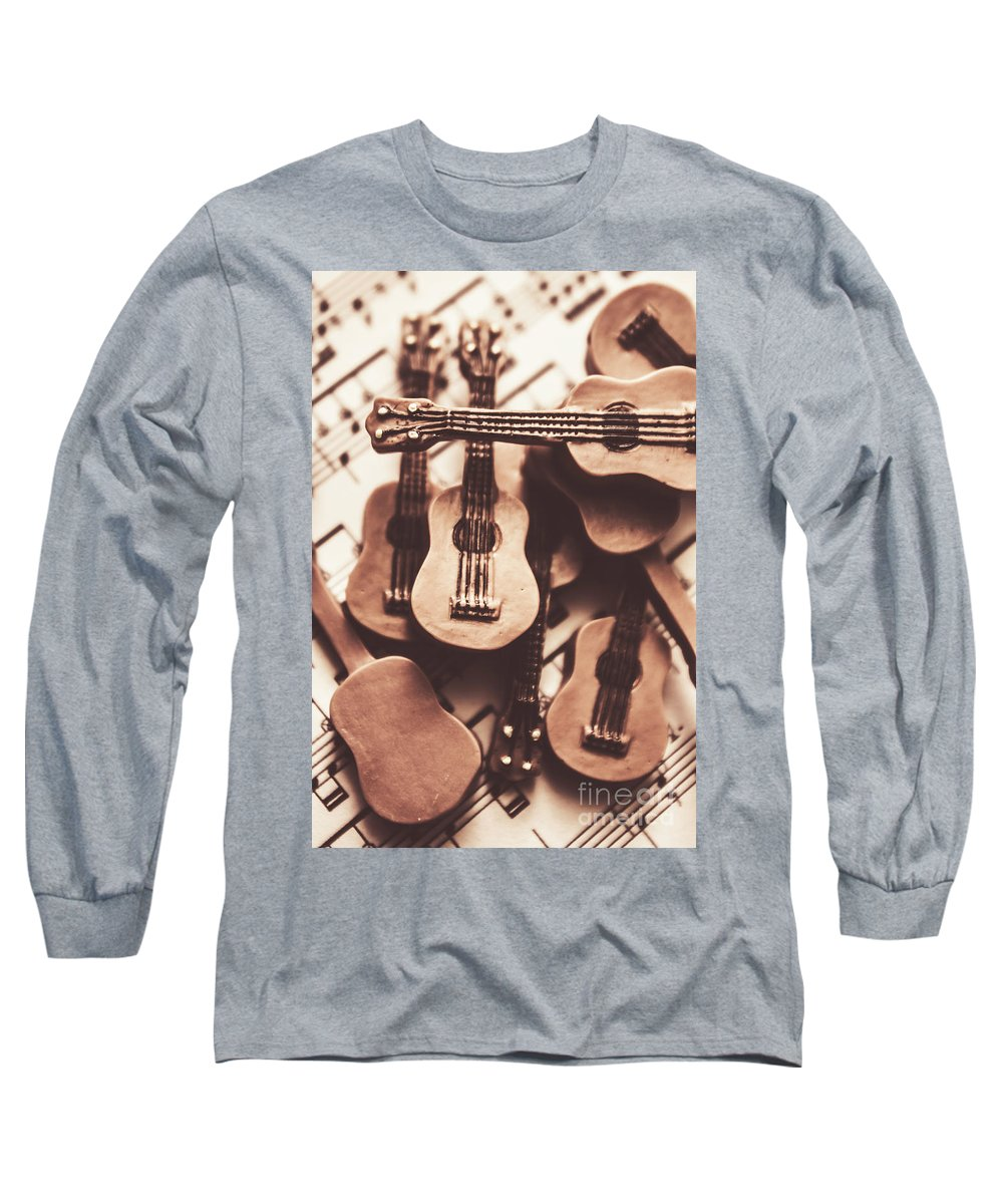 Rehearse Long Sleeve T-Shirt featuring the photograph Classical Music Recording by Jorgo Photography - Wall Art Gallery