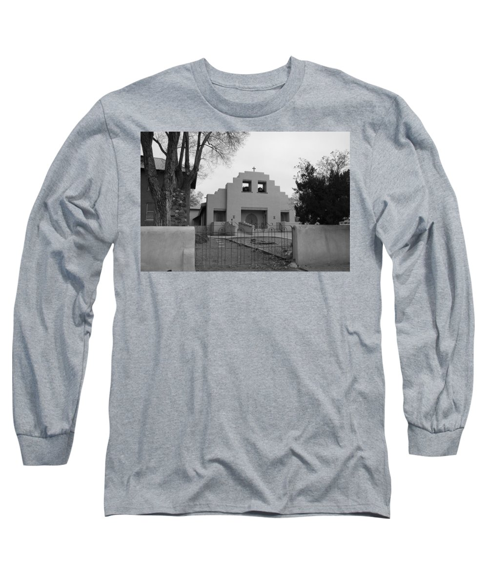 Architecture Long Sleeve T-Shirt featuring the photograph Cochiti Church by Rob Hans