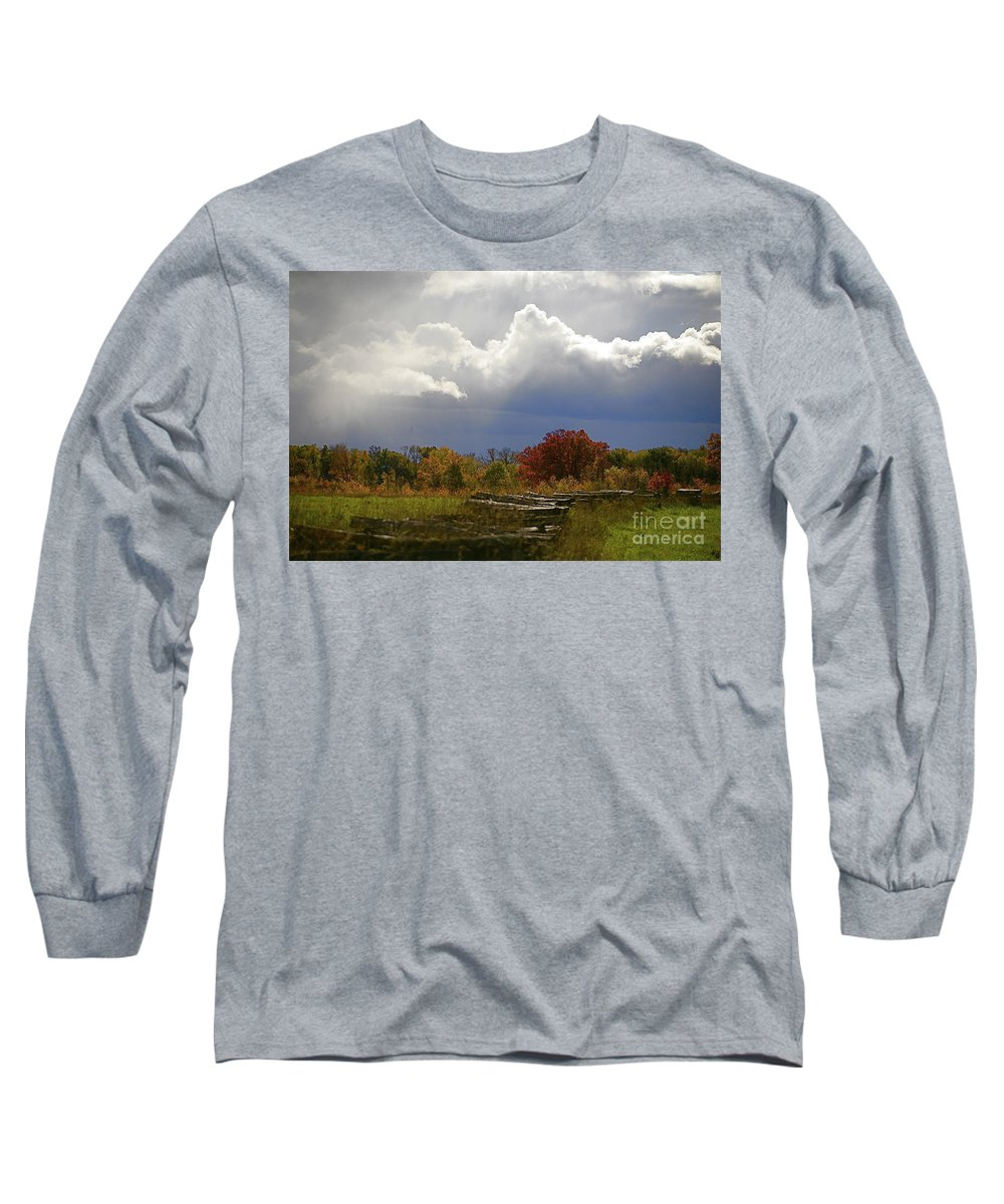 Landscape Long Sleeve T-Shirt featuring the photograph Cold Front by Robert Pearson