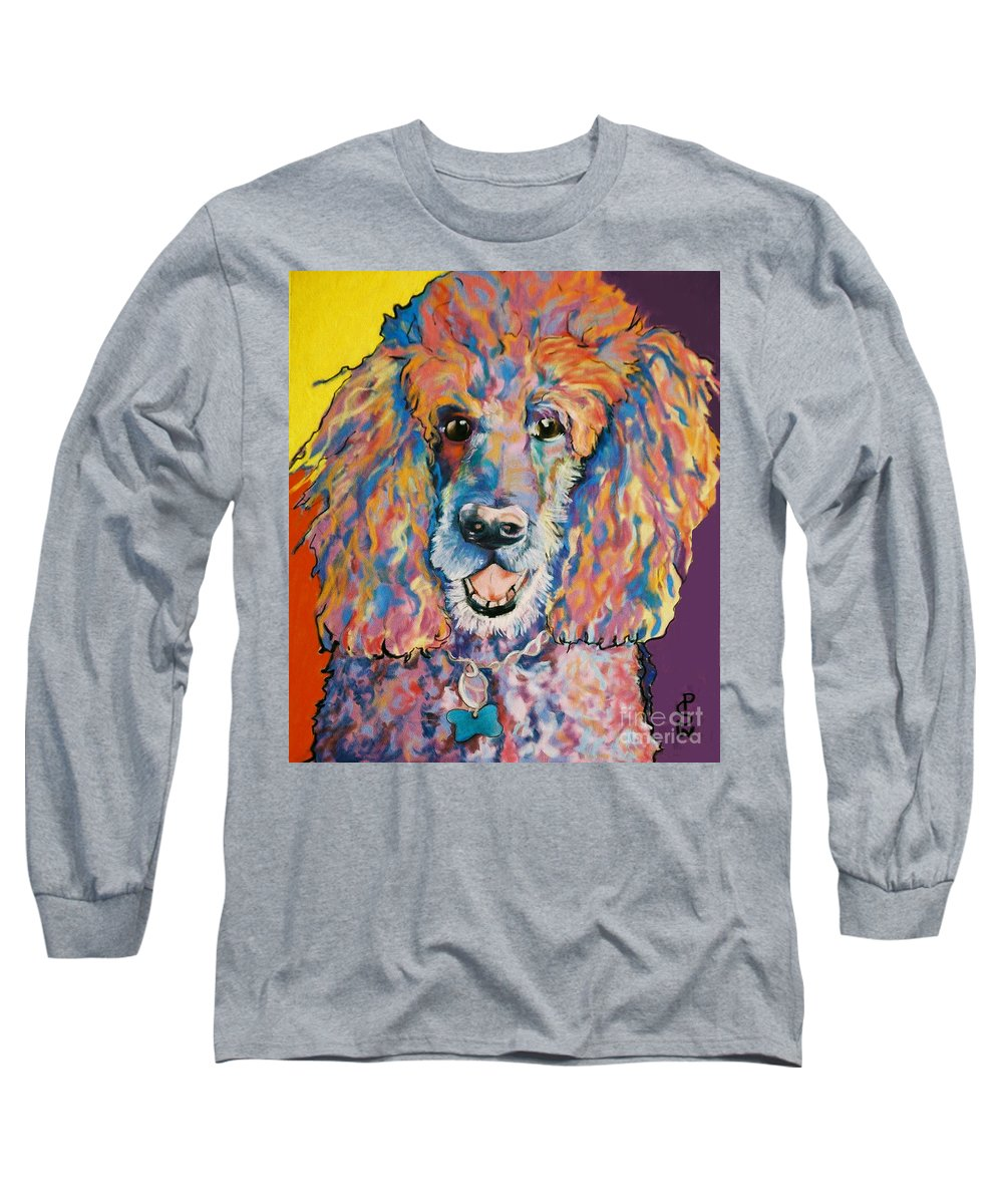 Standard Poodle Long Sleeve T-Shirt featuring the painting Cole by Pat Saunders-White
