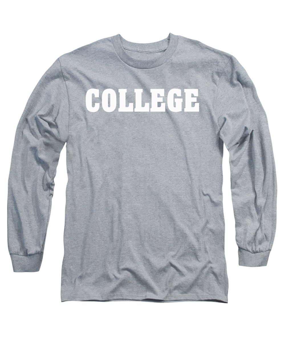 4f5b14b69 Generic Long Sleeve T-Shirt featuring the drawing College Tee by Edward  Fielding