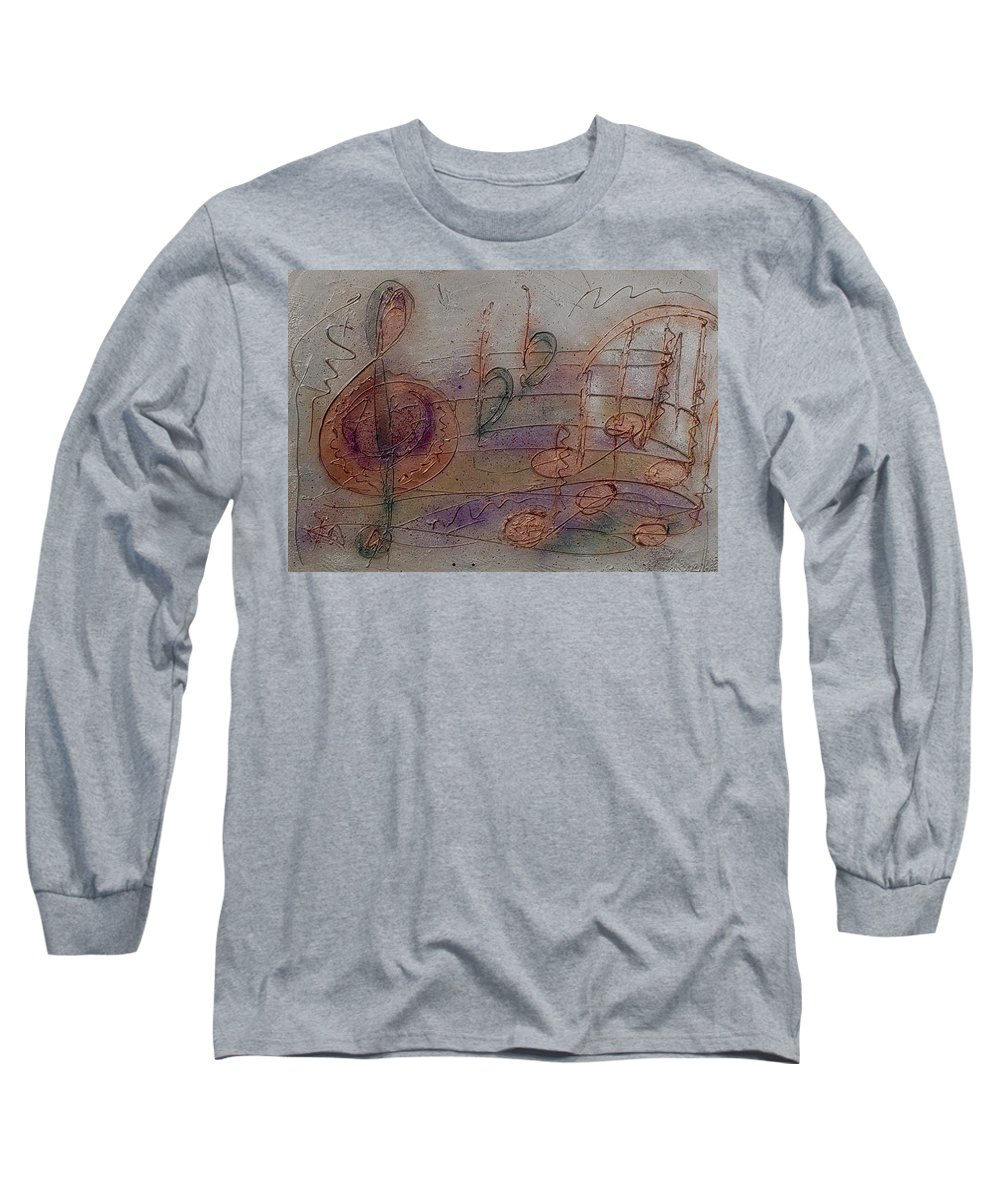 Impressionist Long Sleeve T-Shirt featuring the painting Composition In B Flat by Anita Burgermeister