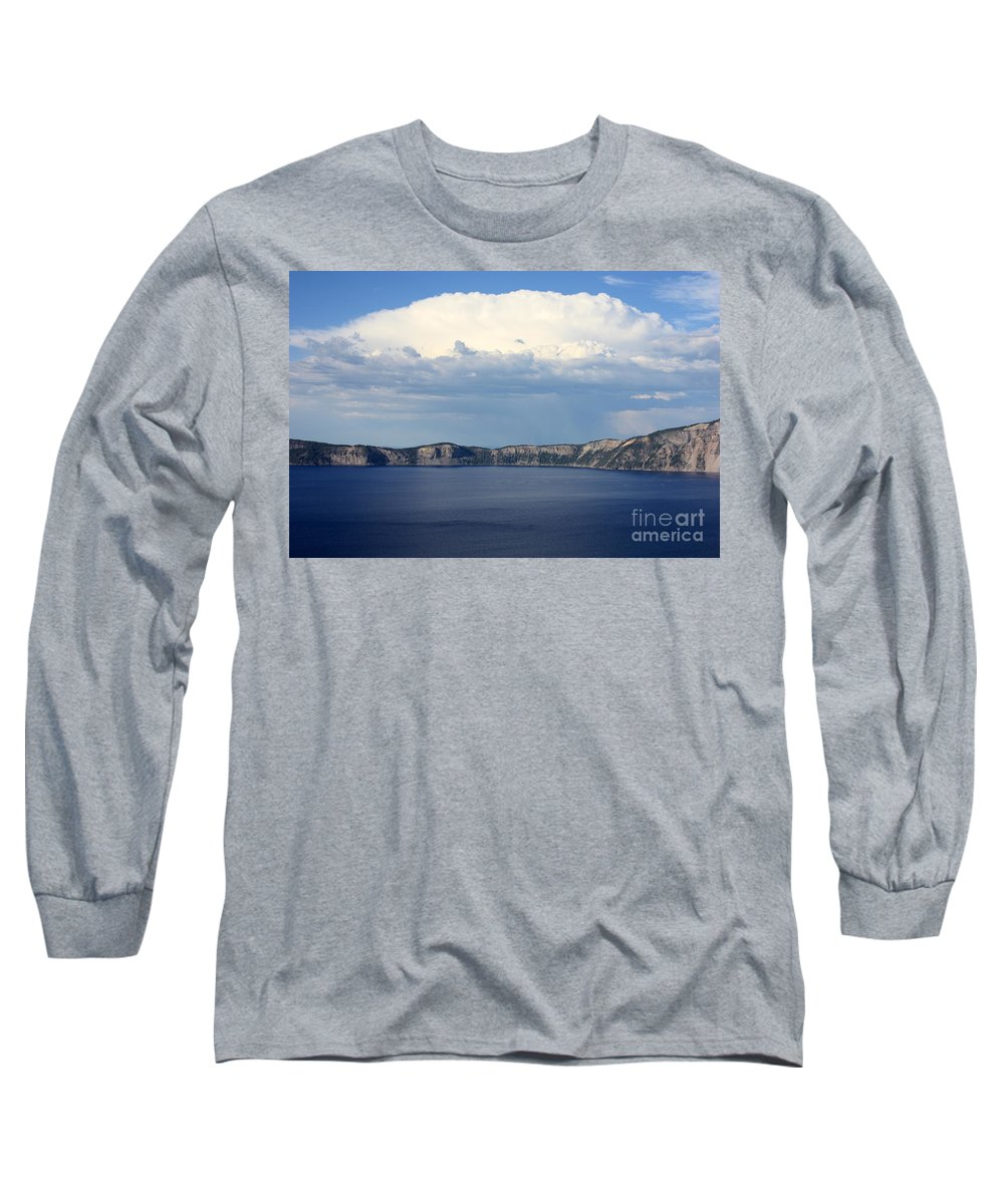 Clouds Long Sleeve T-Shirt featuring the photograph Crater Lake by Carol Groenen