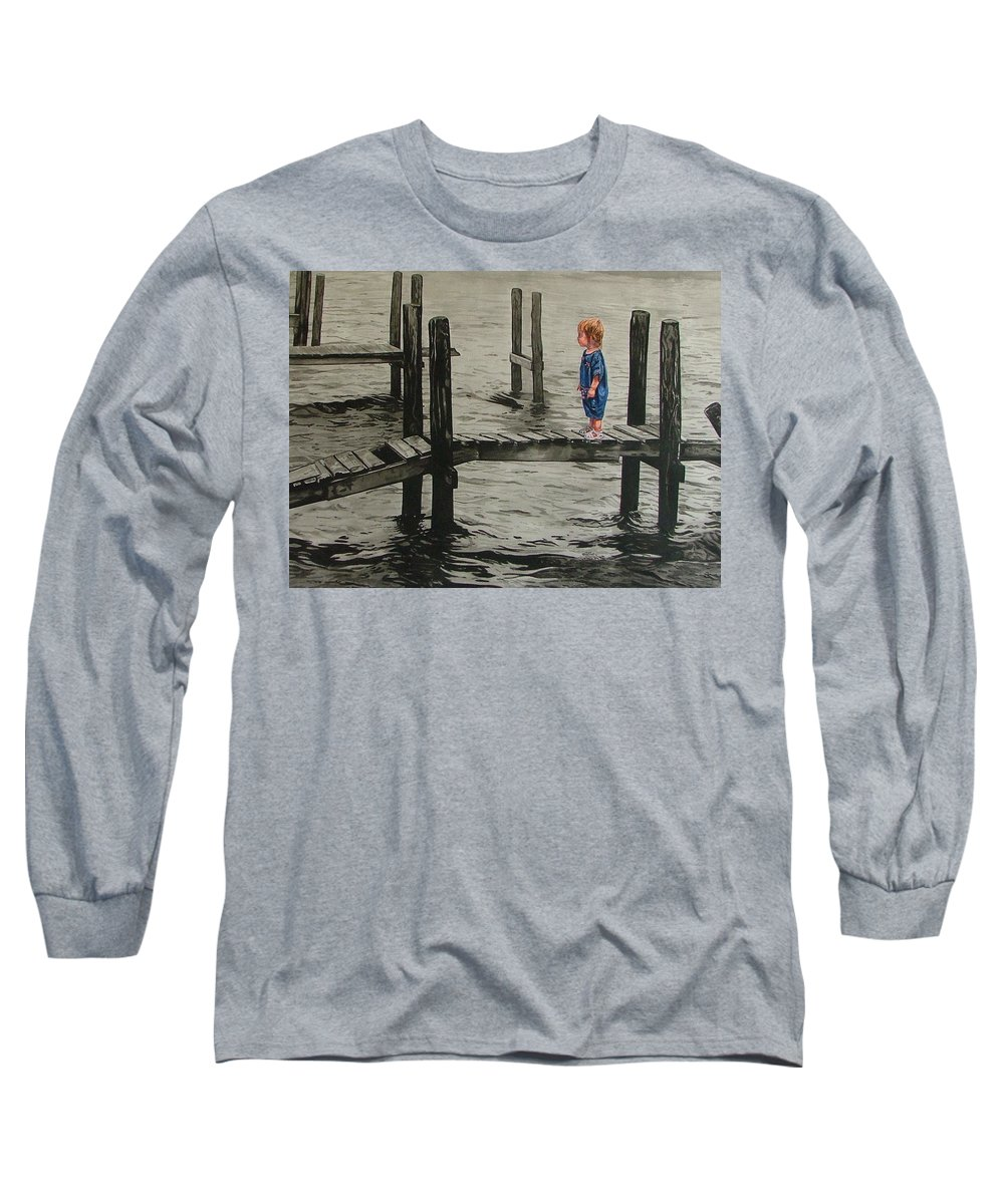 Children Long Sleeve T-Shirt featuring the painting Crossing by Valerie Patterson