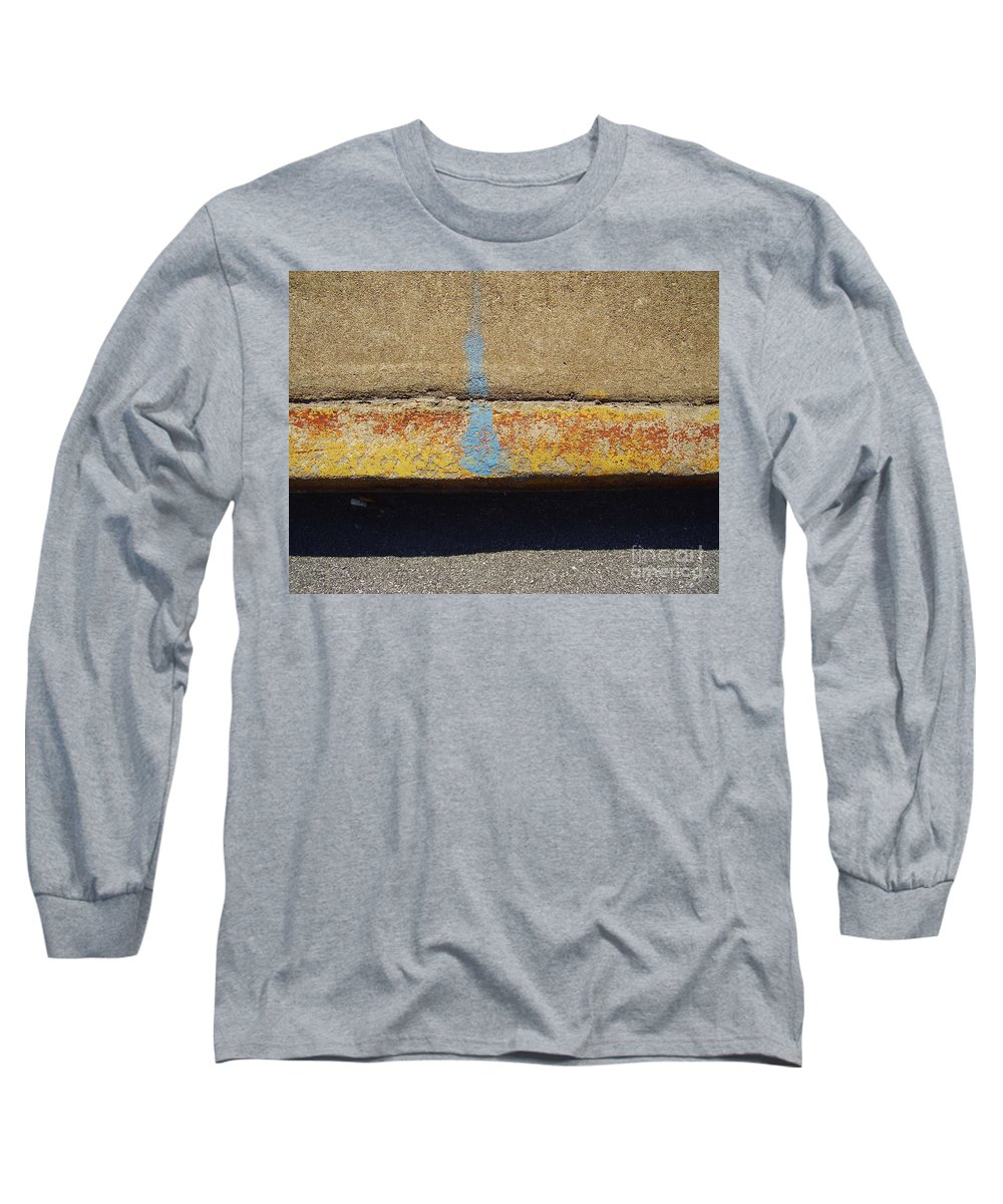 Abstract Long Sleeve T-Shirt featuring the photograph Curb by Flavia Westerwelle
