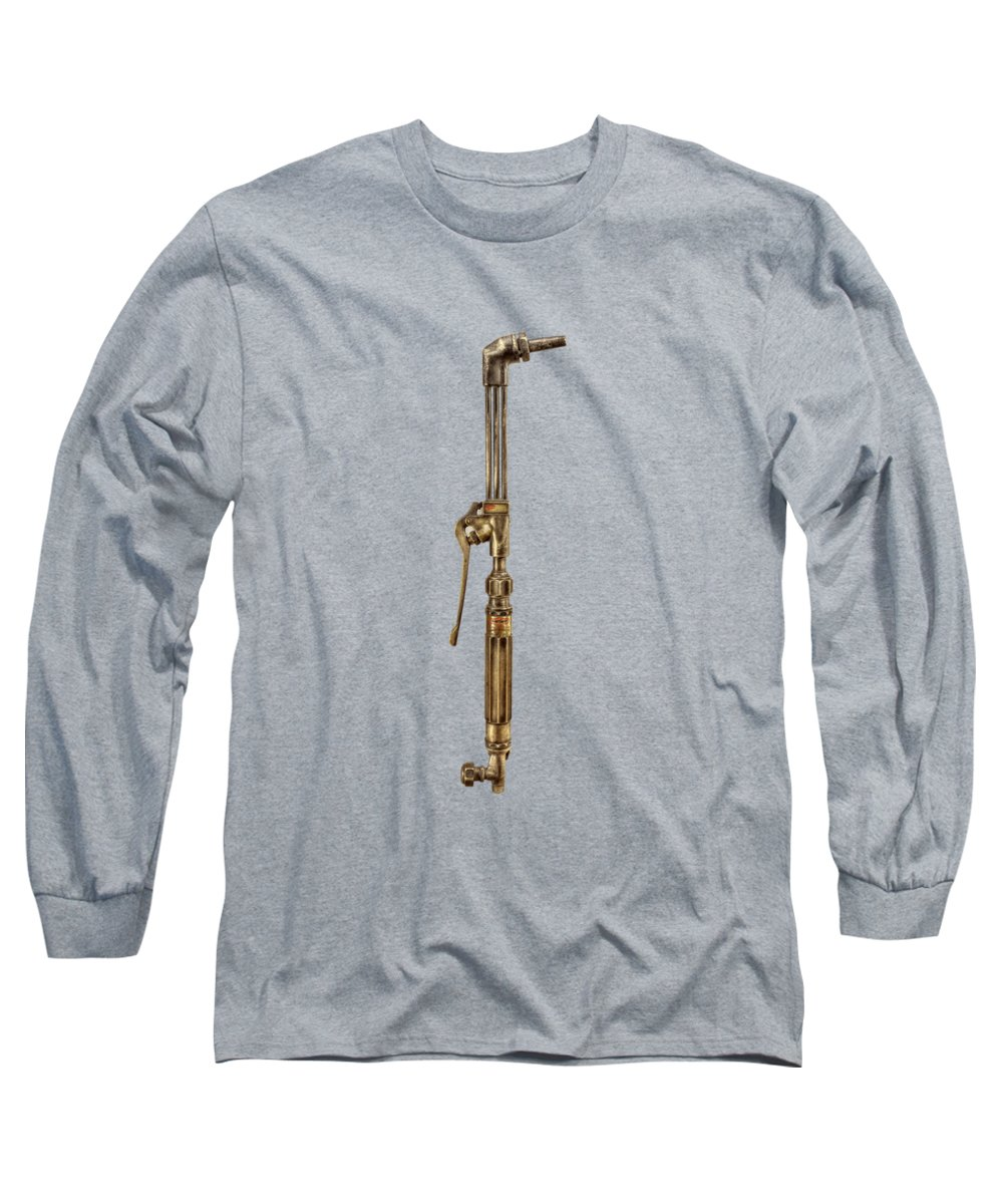 Antique Toy Long Sleeve T-Shirt featuring the photograph Cutting Torch Right Face by YoPedro