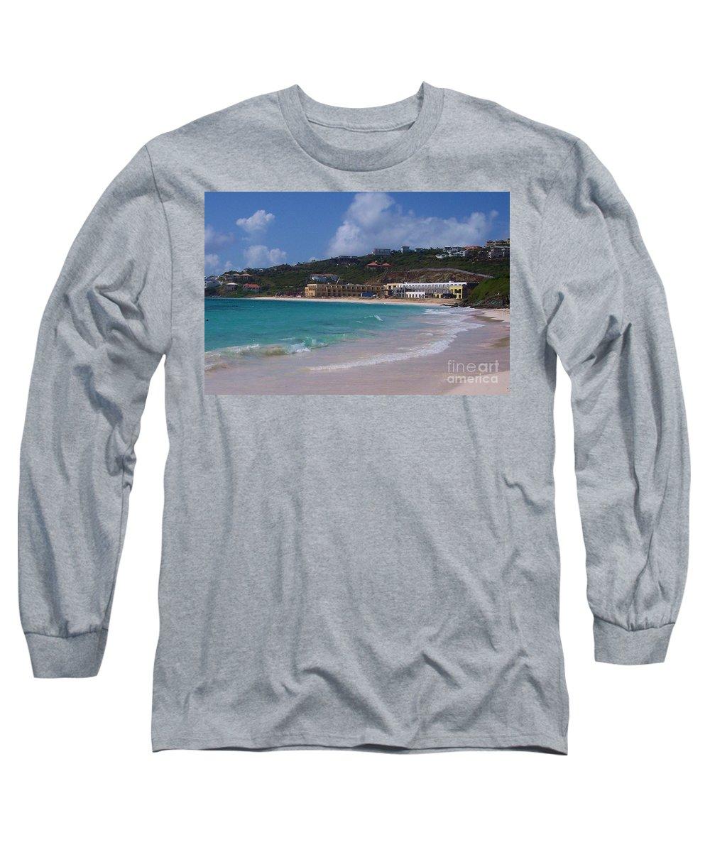 Dawn Beach Long Sleeve T-Shirt featuring the photograph Dawn Beach by Debbi Granruth