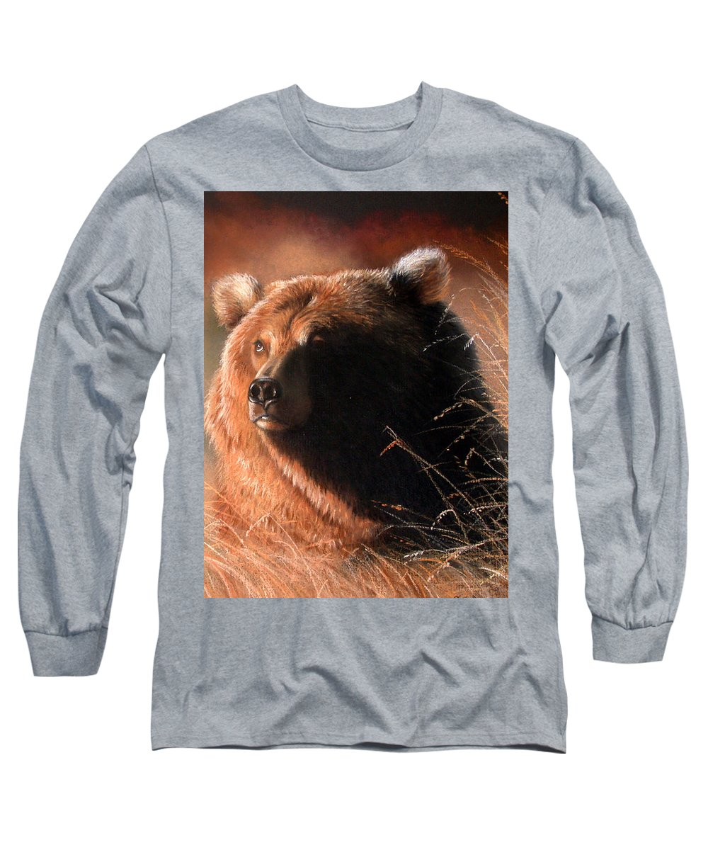 Wildlife Long Sleeve T-Shirt featuring the painting Day Dream by Deb Owens-Lowe