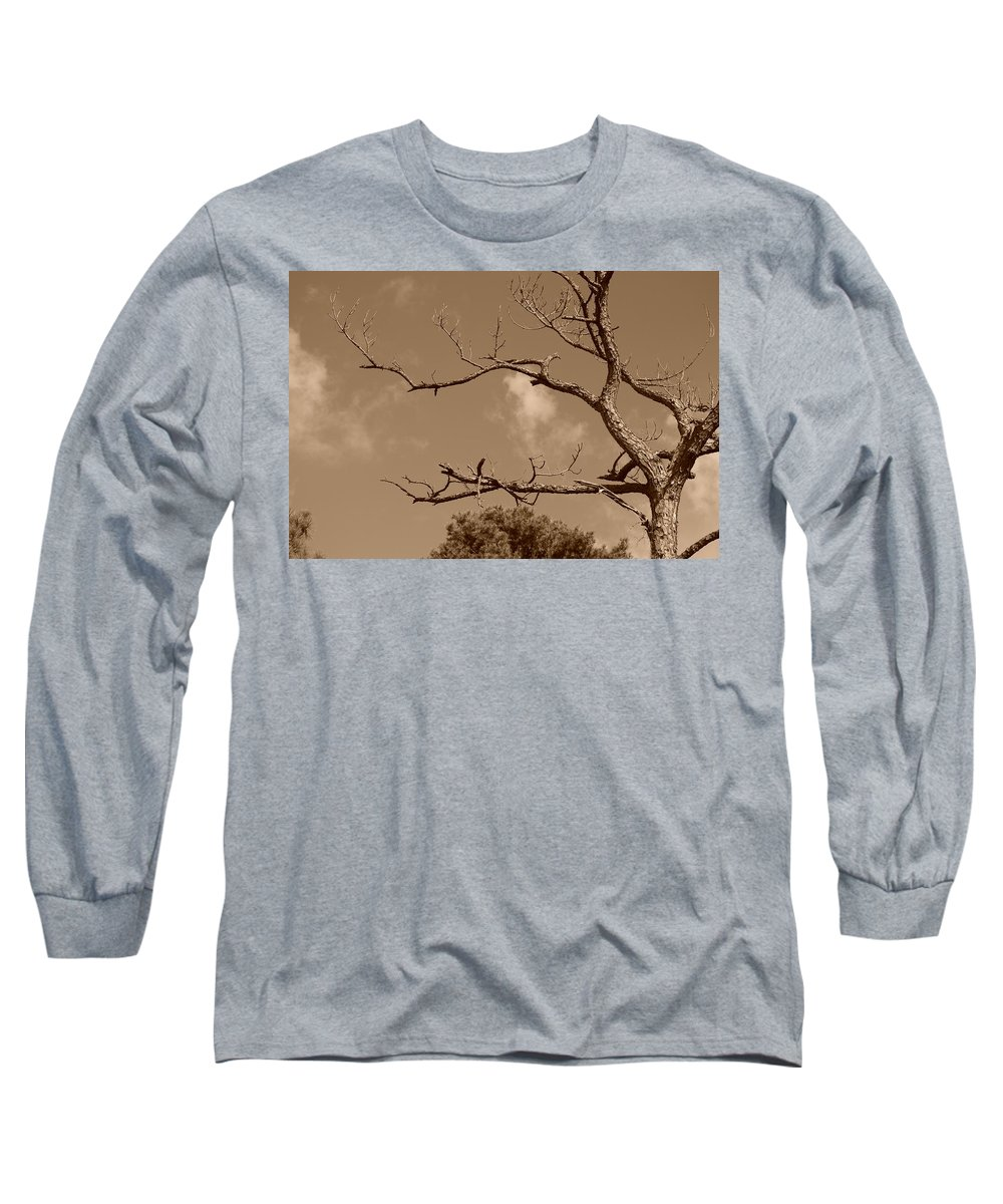 Sepia Long Sleeve T-Shirt featuring the photograph Dead Wood by Rob Hans