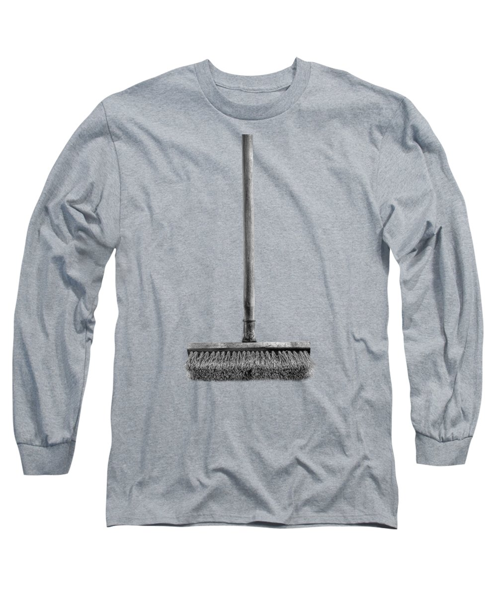 Background Long Sleeve T-Shirt featuring the photograph Deck Scrub Brush by YoPedro