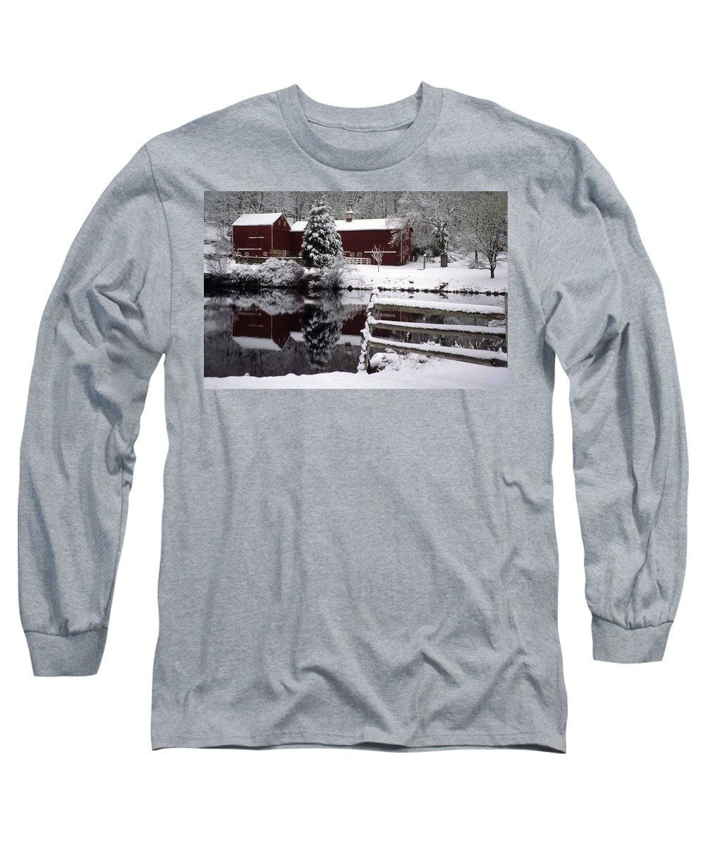 Barn Long Sleeve T-Shirt featuring the photograph Denville Homestead by Laurie Paci