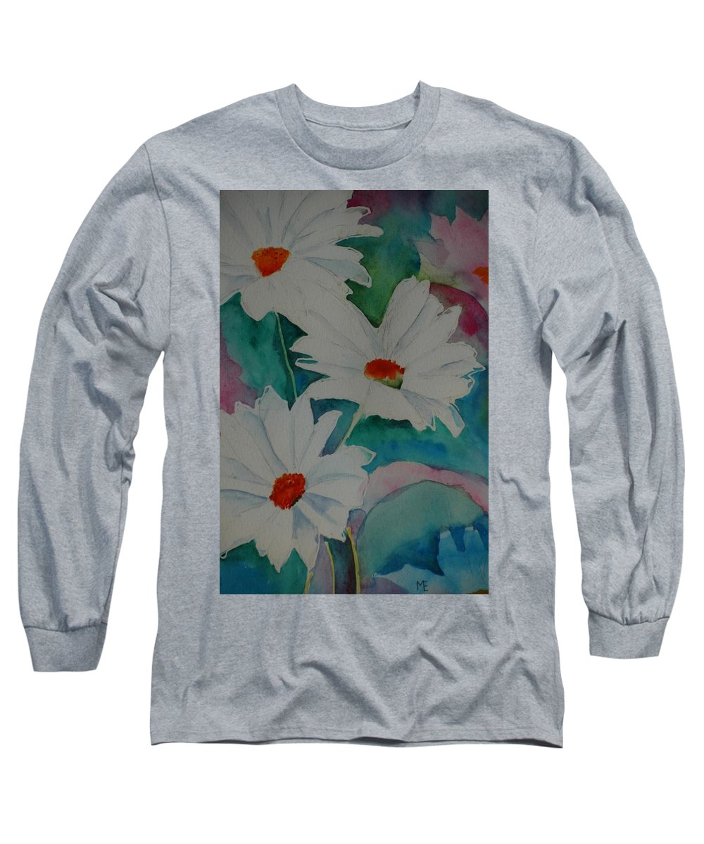 Daisies Long Sleeve T-Shirt featuring the painting Devin's Dasies by Melinda Etzold