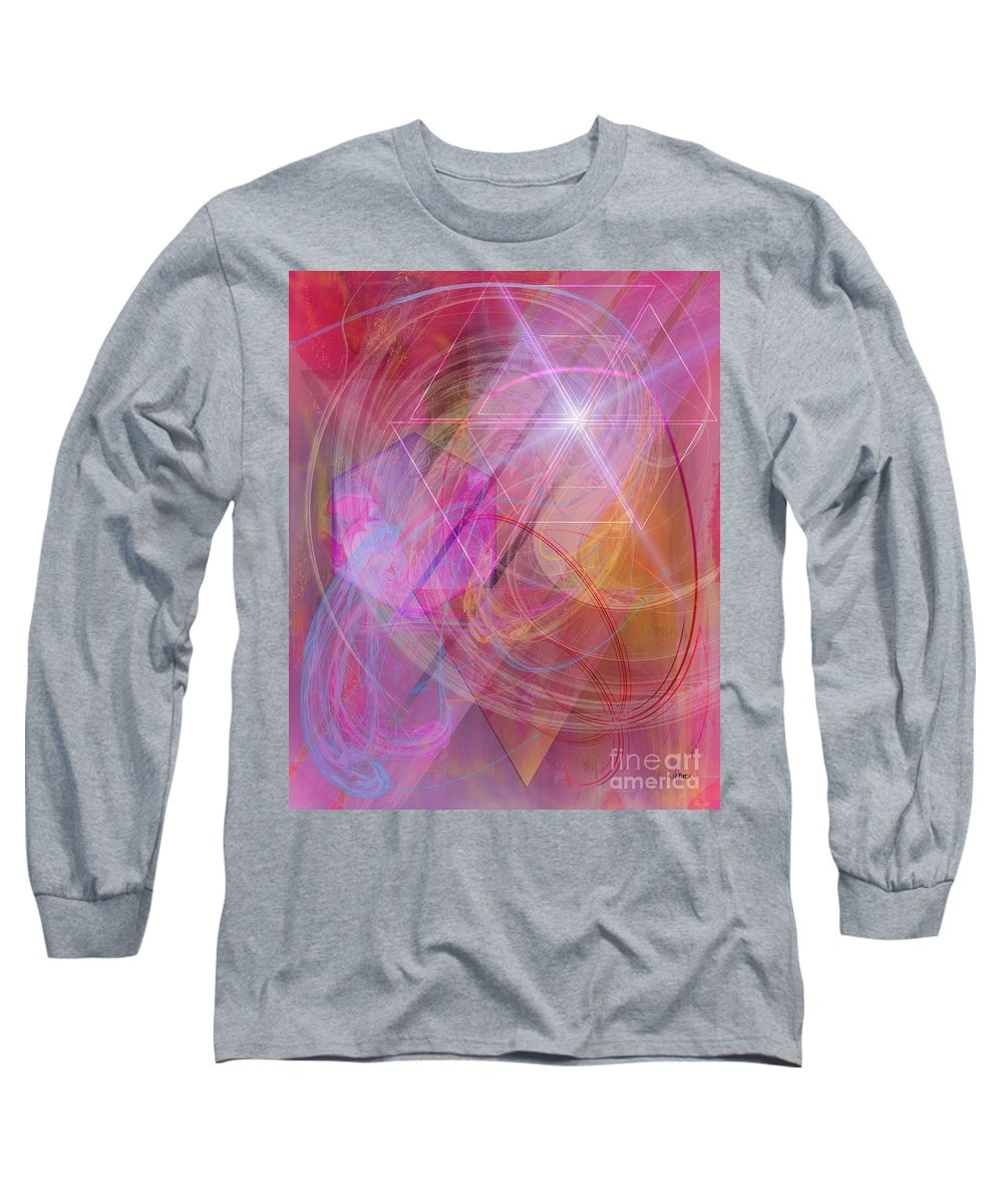 Dragon's Gem Long Sleeve T-Shirt featuring the digital art Dragon's Gem by John Beck