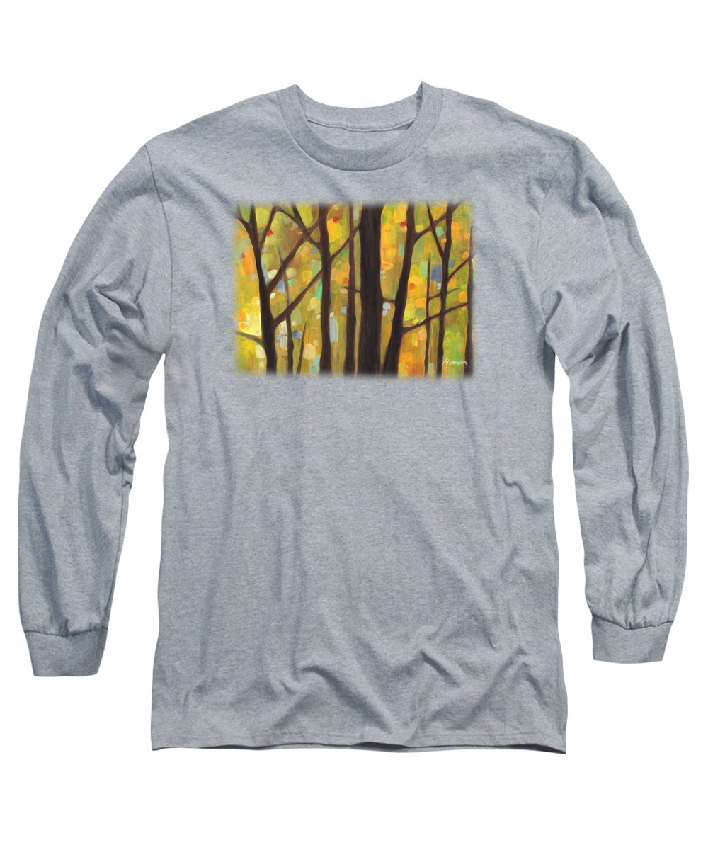 Dreaming Long Sleeve T-Shirt featuring the painting Dreaming Trees 1 by Hailey E Herrera