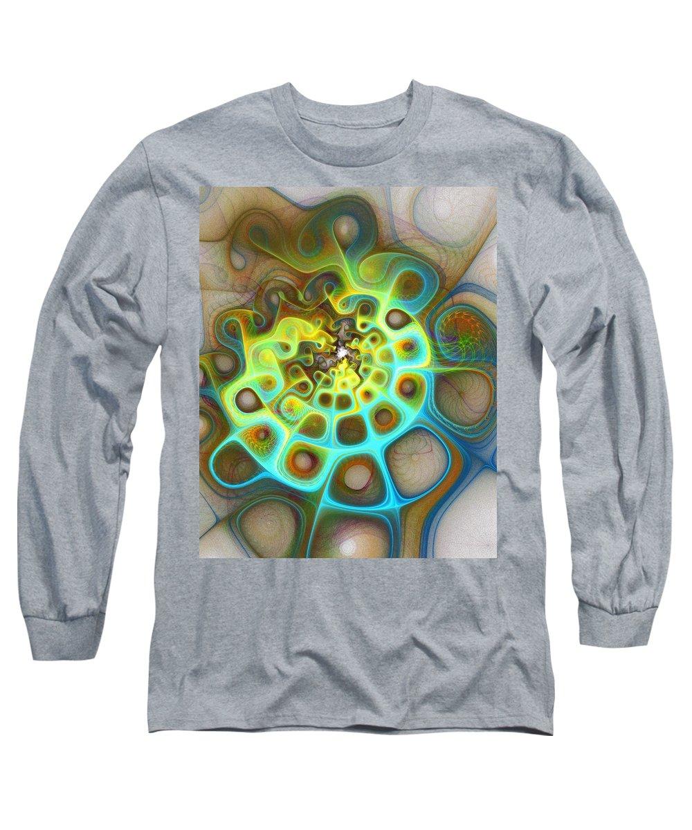 Digital Art Long Sleeve T-Shirt featuring the digital art Dreamscapes by Amanda Moore