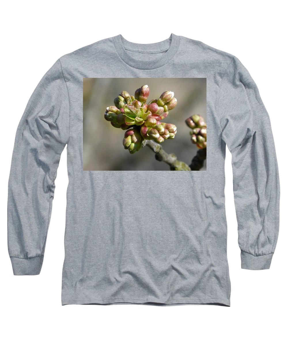 Cherry Long Sleeve T-Shirt featuring the photograph Early Cherry Blossom by Valerie Ornstein