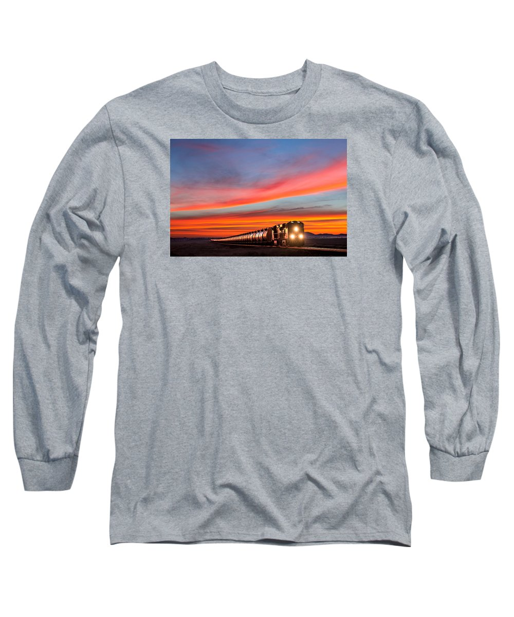 Train Long Sleeve T-Shirt featuring the photograph Early Morning Haul by Todd Klassy