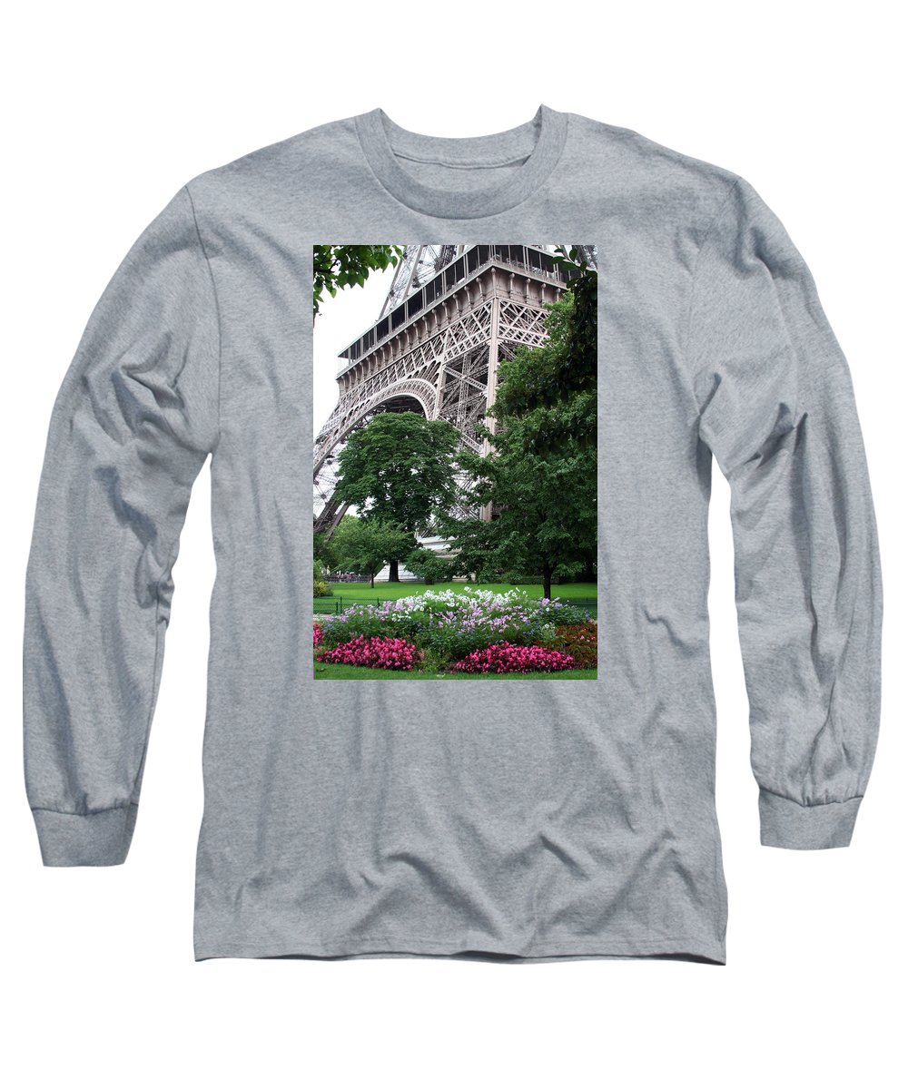 Eiffel Long Sleeve T-Shirt featuring the photograph Eiffel Tower Garden by Margie Wildblood