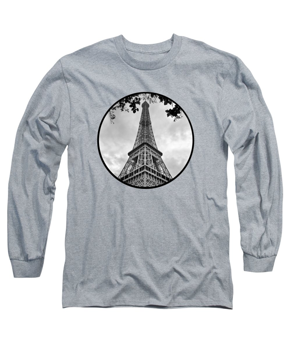 149779a6f6a4e6 Eiffel Tower Long Sleeve T-Shirt featuring the photograph Eiffel Tower -  Transparent by Nikolyn