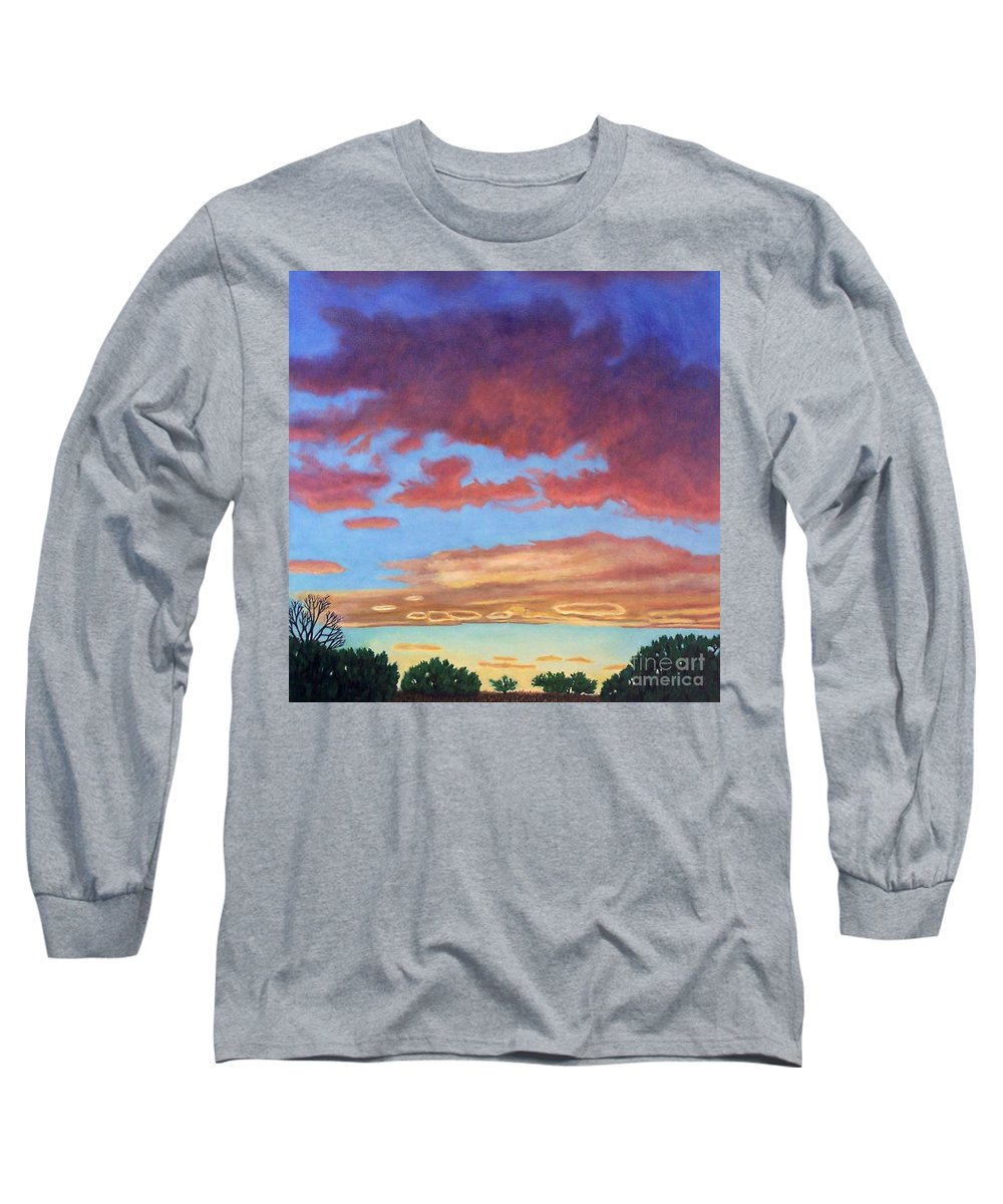 Sunset Long Sleeve T-Shirt featuring the painting El Dorado Sunset by Brian Commerford