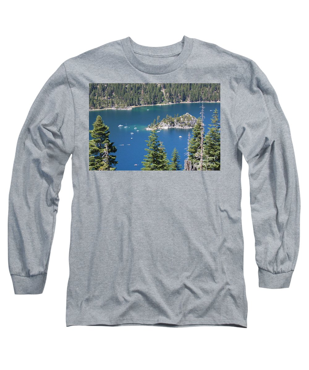 Emerald Bay Long Sleeve T-Shirt featuring the photograph Emerald Bay by Carol Groenen