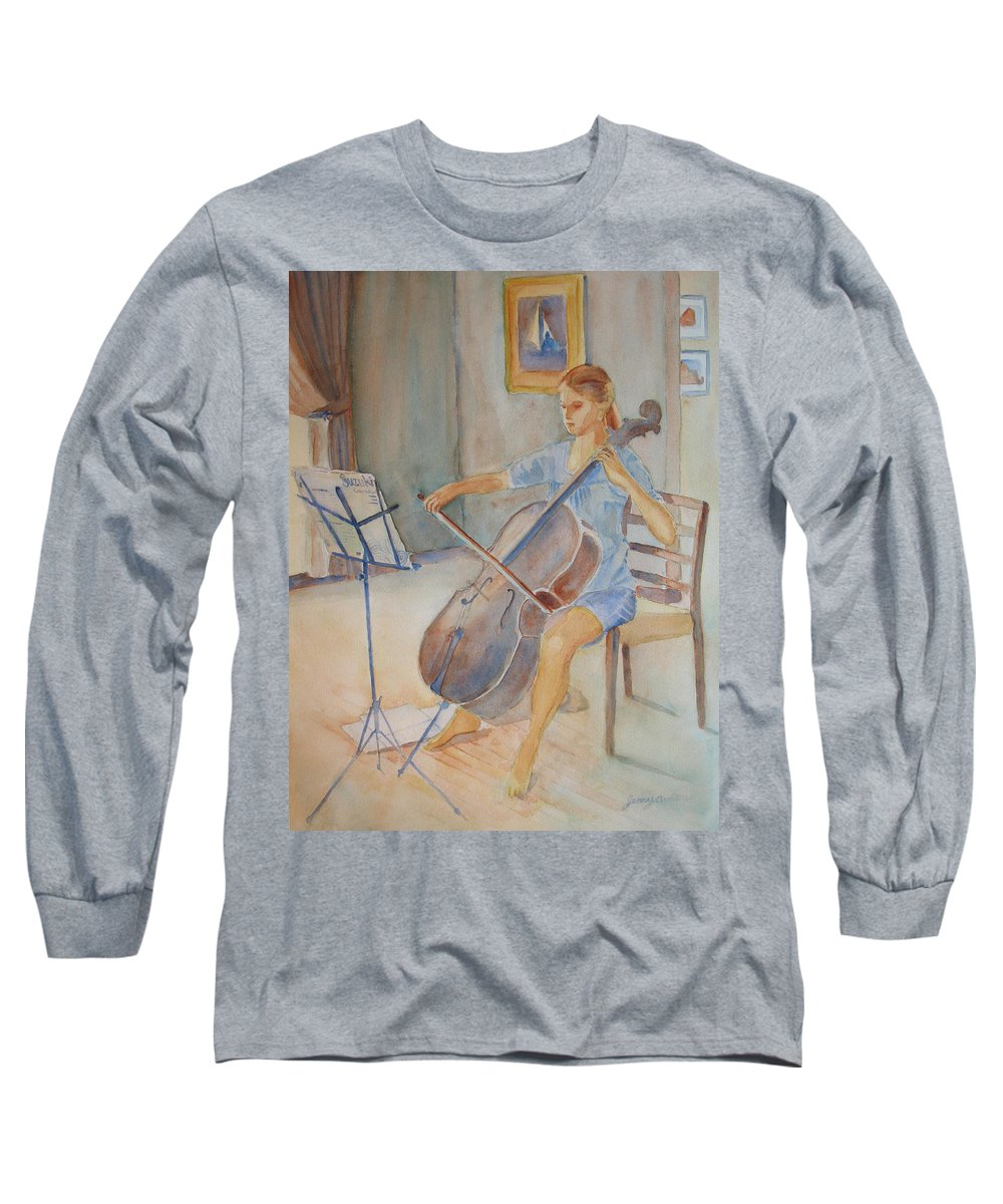 Girls Long Sleeve T-Shirt featuring the painting Emma And Clifford by Jenny Armitage