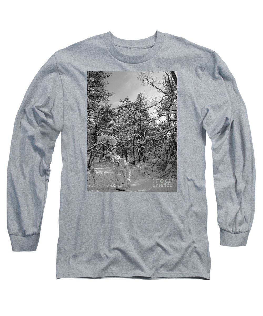 Black And White Long Sleeve T-Shirt featuring the photograph Empty Travel by Chad Natti