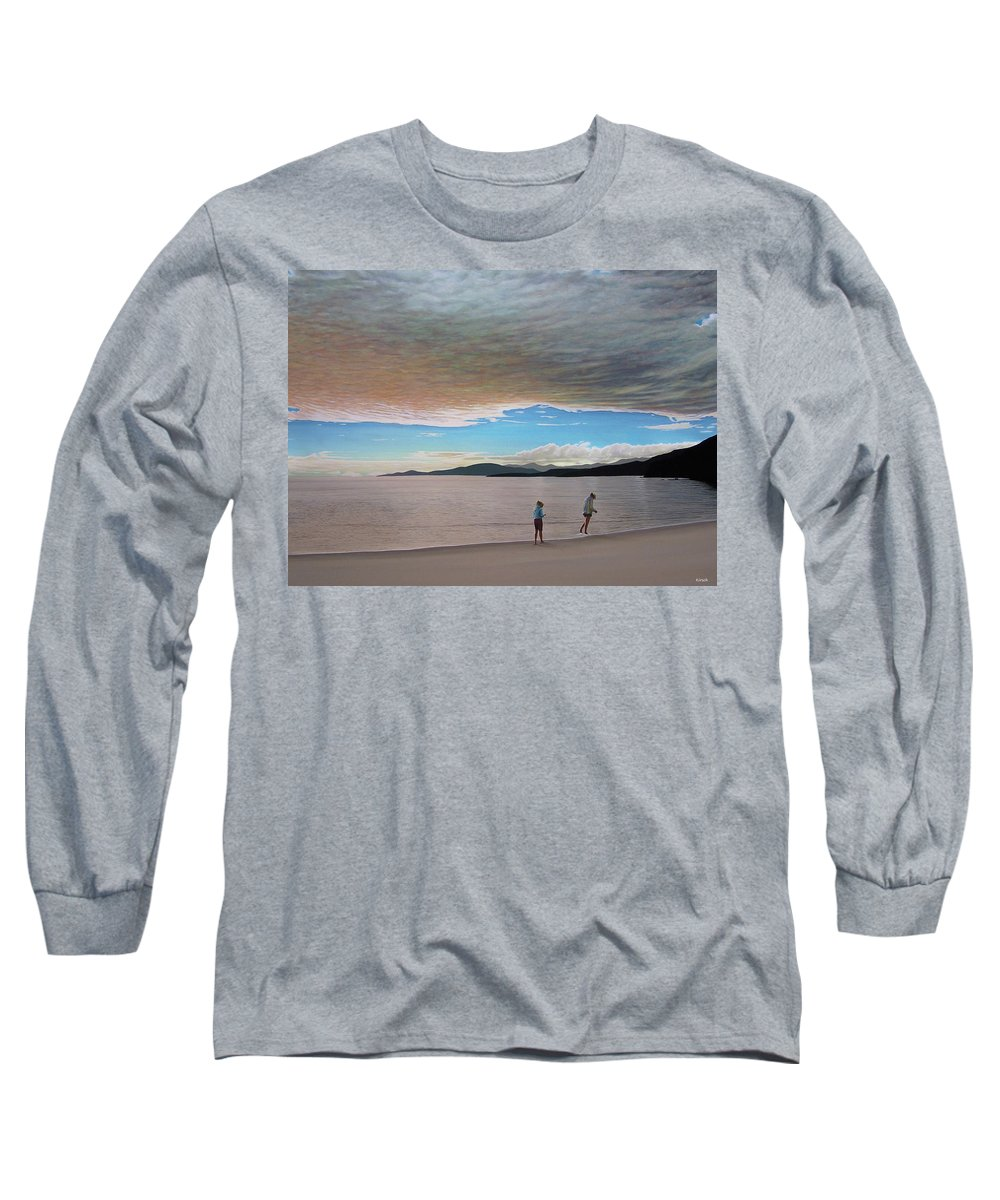 Landscapes Long Sleeve T-Shirt featuring the painting English Bay Vancouver by Kenneth M Kirsch