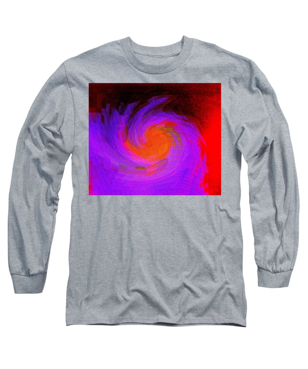 Abstract Long Sleeve T-Shirt featuring the digital art Escape by Ian MacDonald
