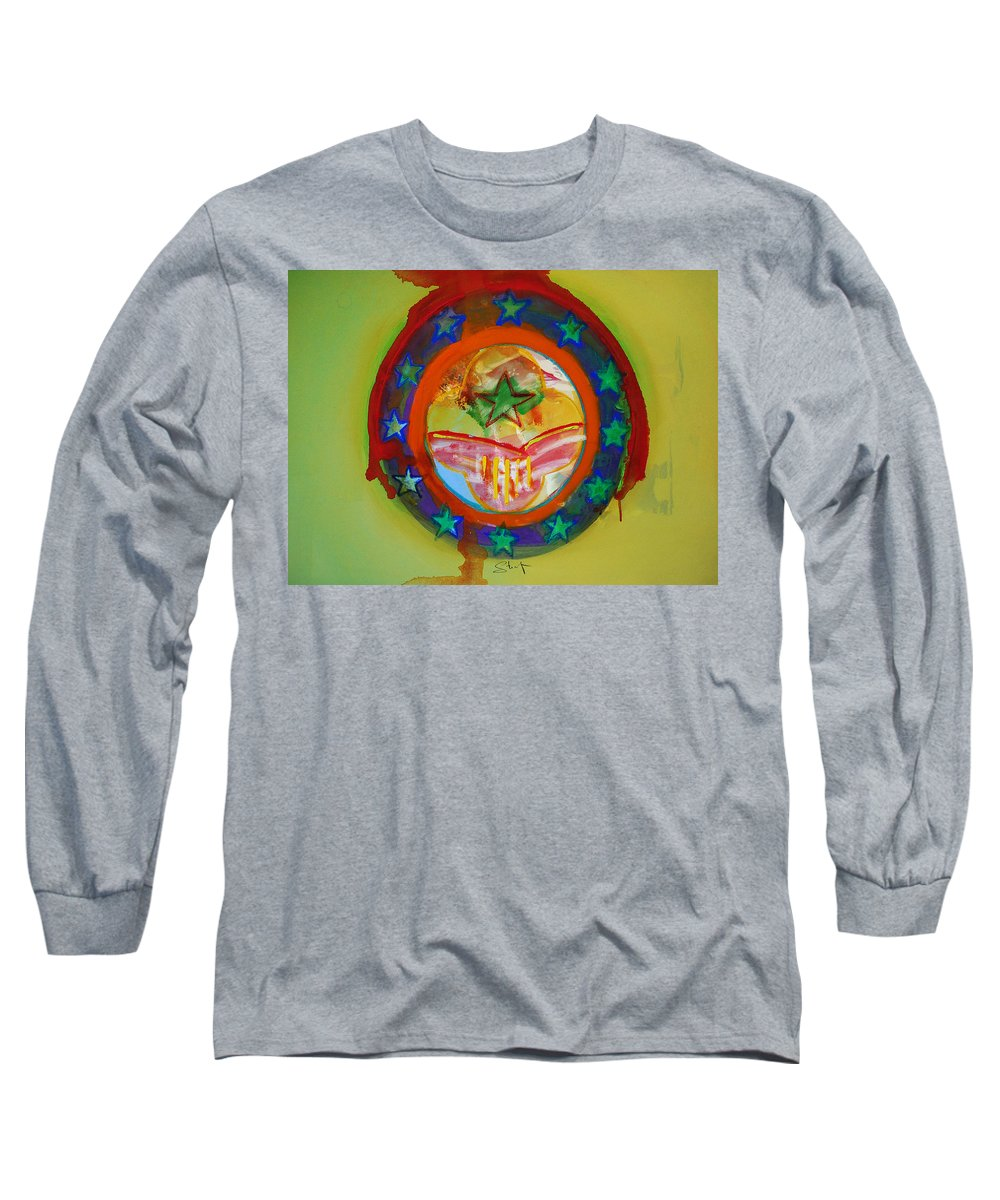 Long Sleeve T-Shirt featuring the painting European Union by Charles Stuart