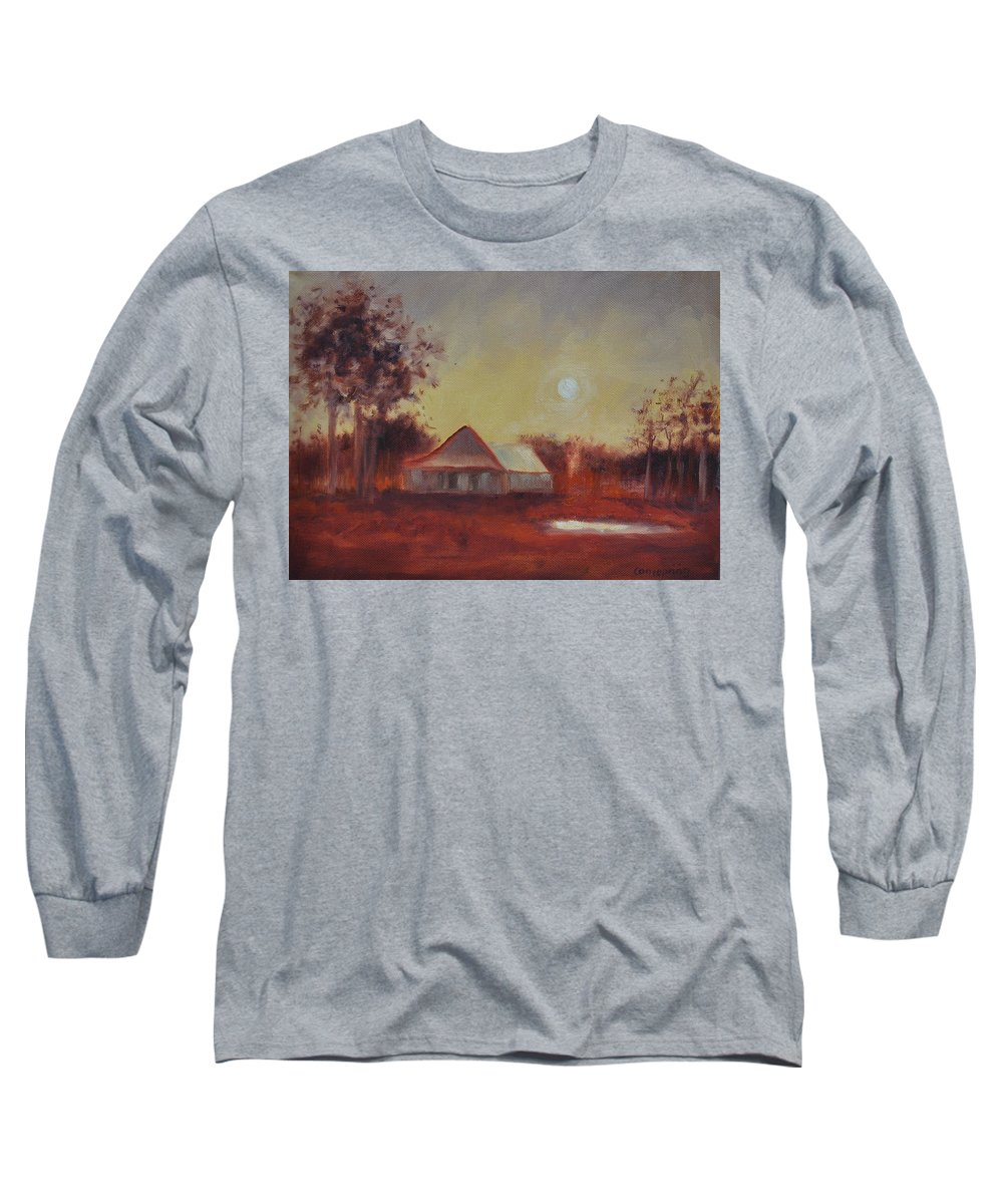 Sunsets Long Sleeve T-Shirt featuring the painting Evening Light by Ginger Concepcion