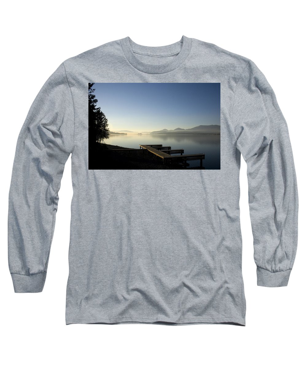 Landscape Long Sleeve T-Shirt featuring the photograph Fall Evening by Lee Santa
