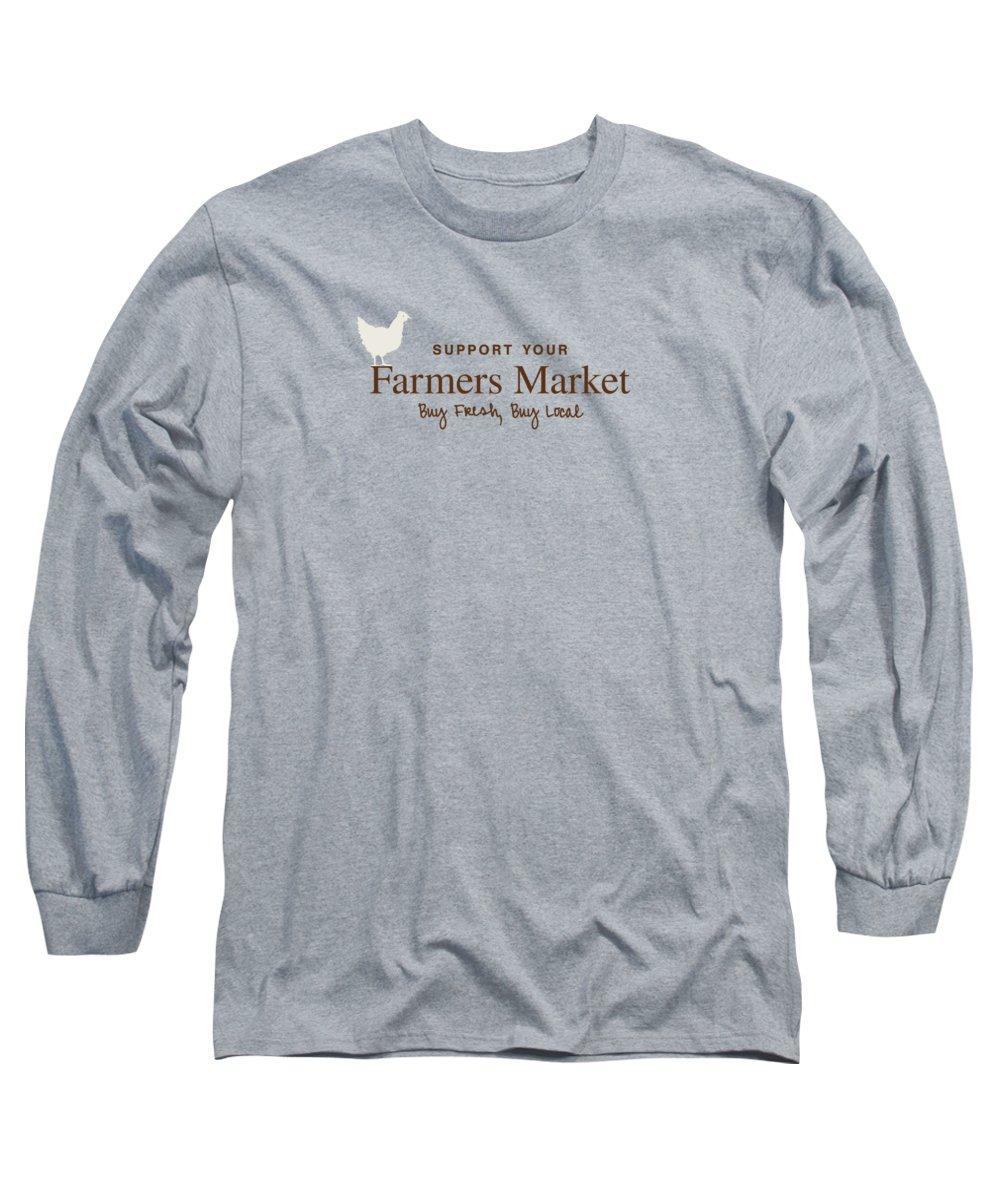 Farmers Market Long Sleeve T-Shirt featuring the digital art Farmers Market by Nancy Ingersoll