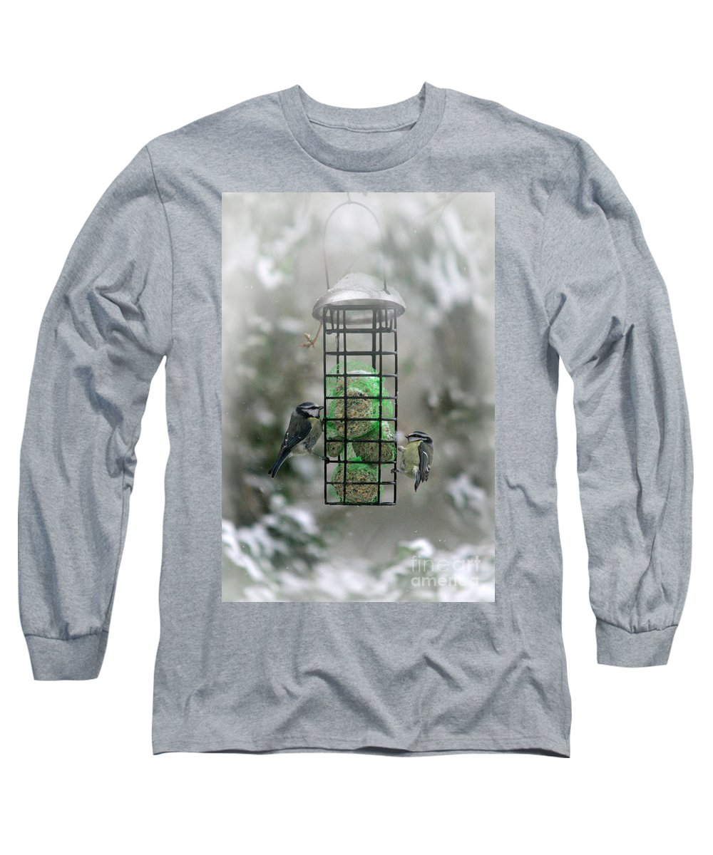 Winter Long Sleeve T-Shirt featuring the photograph Feed The Hunger by Angel Ciesniarska
