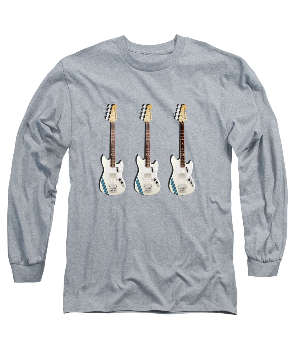 Fender Mustang Bass Long Sleeve T-Shirt featuring the photograph Fender Mustang Bass by Mark Rogan