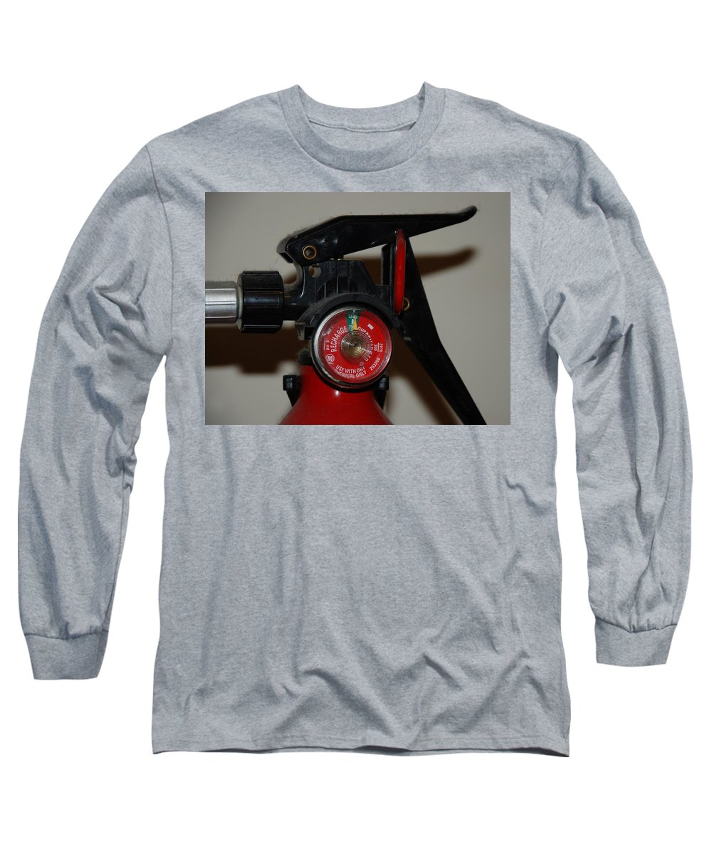 Fire Extinguisher Long Sleeve T-Shirt featuring the photograph Fire Extinguisher by Rob Hans