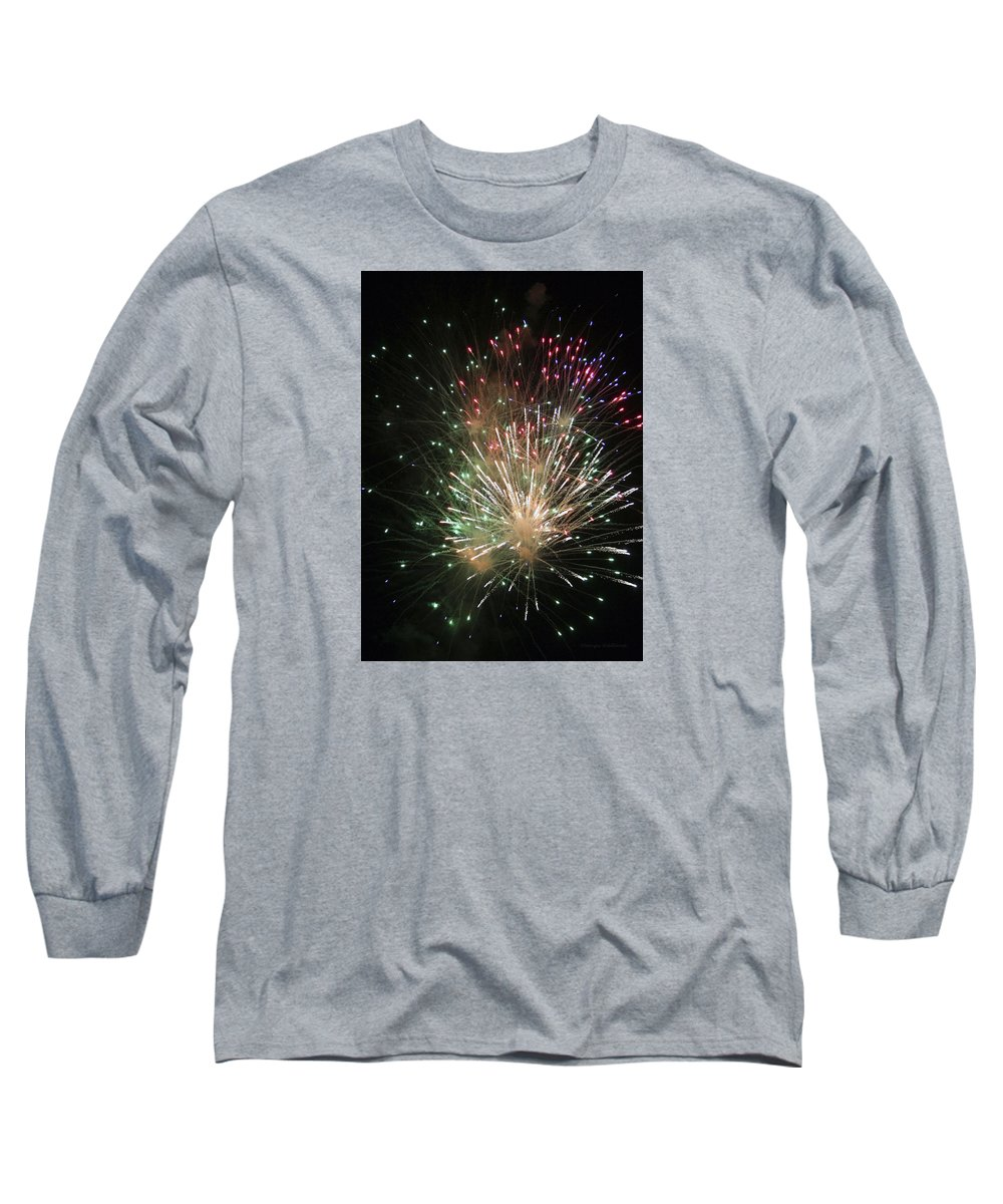 Fireworks Long Sleeve T-Shirt featuring the photograph Fireworks by Margie Wildblood