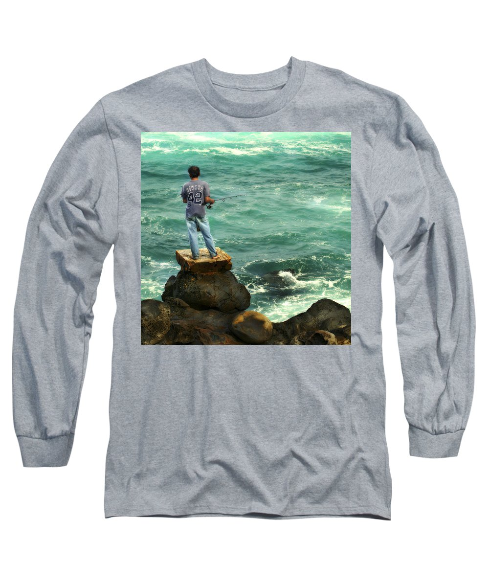 Americana Long Sleeve T-Shirt featuring the photograph Fisherman by Marilyn Hunt