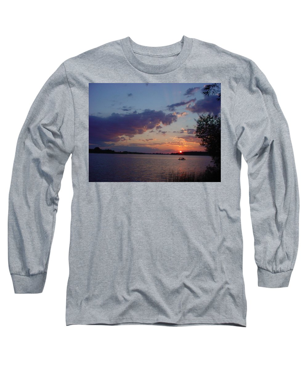 St.lawrence River Long Sleeve T-Shirt featuring the photograph Fishing On The St.lawrence River. by Jerrold Carton